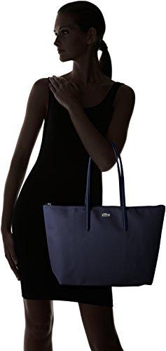 Lacoste 14x29 Cabas x Toile 5x35 Noir Femme Sac PVC H Bandouliere W L Eclipse x cm YrvqYw5