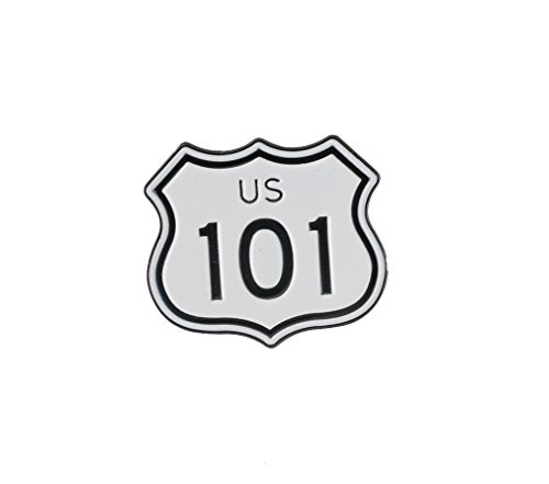 US Route 101 Highway Sign California Hollywood Freeway Enamel Lapel Pin– 1 Soft Enamel Pin