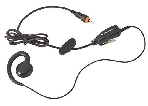 Motorola HKLN4455 CLP Single Pin Non-Adjustable PTT Earpiece (Black)