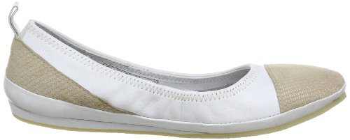 Marc Shoes 1.626.03-11/209-Corazon 1.626.03-11/209 - Bailarinas de cuero para mujer Beige (Beige (shell-white 299))