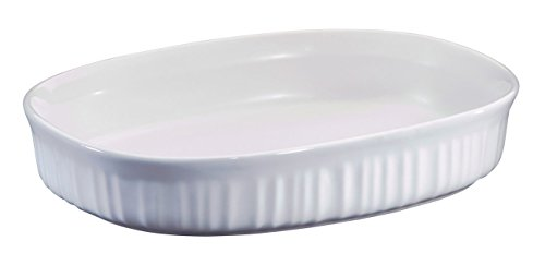 Corning Ware  inchFrench White inch (1.5 Qt.) Oval Casserole Baking Dish (F-6-B)