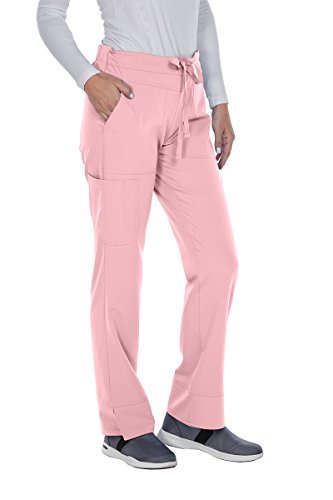 Grey's Anatomy Signature 2207 Callie Low Rise Pant Rose Blush L Polyester Roses