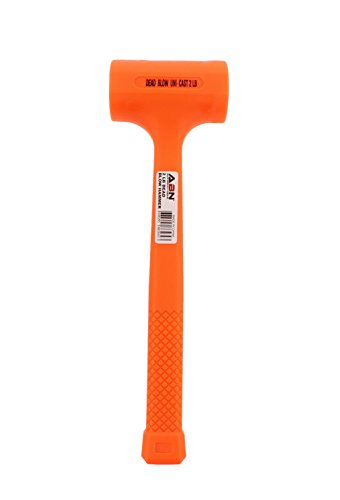 ABN Dead Blow Hammer, 2 lb Pound – Unicast Mallet with Non-Marring Rubber Coating by ABN