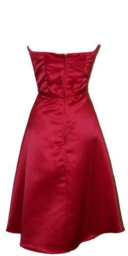 50s Strapless Satin Bridesmaid Bridesmaid Dress Homecoming