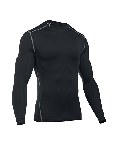 Under Armour Men's ColdGear Armour Compression Mock Long Sleeve Shirt, Black (001)/Steel, XXX-Large by Under Armour (Image #3)