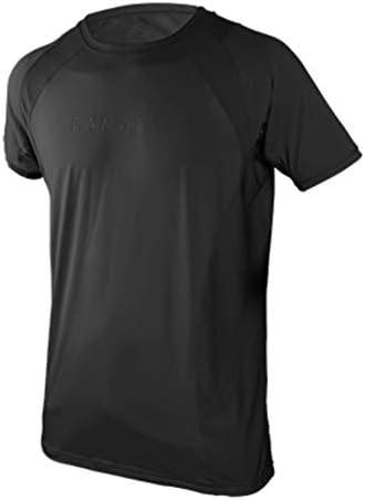 スポーツ用アンダーシャツ ストレッチ素材 半袖 メンズ ブラック L