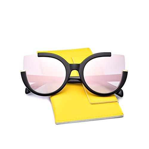 - Mosanana Oversized Cateye Sunglasses for Women Ladies Pink Mirrored Fashion Big Large Trendy Unique Cute Unique Retro Vintage Luxury Shades Sun Glasses lentes gafas de sol de para mujer Cat Eye Unique