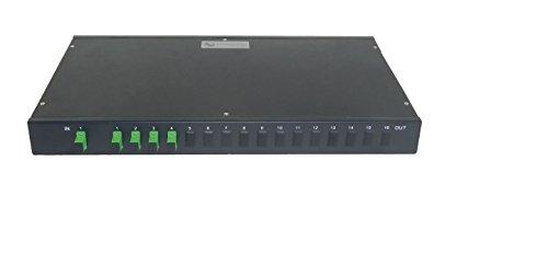 Single Mode Fiber Optic Splitter - 1 x 4 Rack Mount PLC - Commercial QUALITY - Four Lightwave Track
