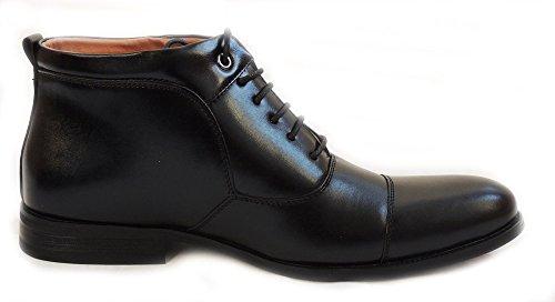 Nueva Ferro Aldo Hombres Botines De Cuero Con Forro De Cuero Encajado Zapatos Con Tensor Mfa806009 / Negro