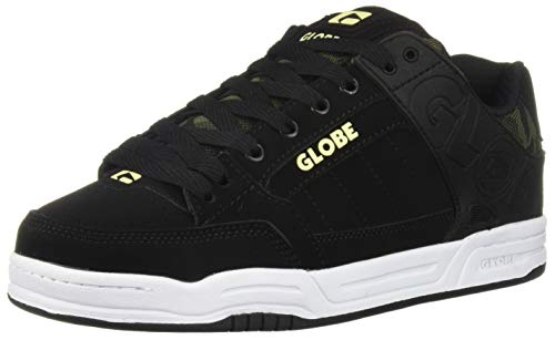 Globe Men's Tilt Skate Shoe, Black/camo Knit/Slime, 12 Medium US