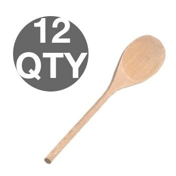 Wooden Spoons Decorating (Package of 12- Unfinished Large 12