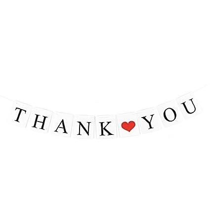 Amazoncom Edealmax Lettre De Remerciement Modèle De Coeur