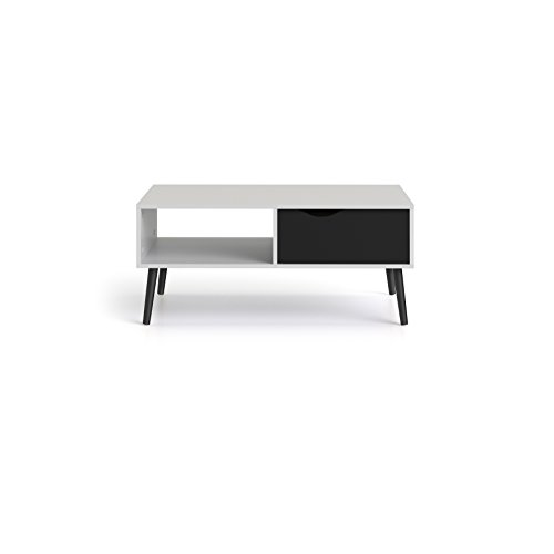 Tvilum 7538449gm Diana 1 Drawer Coffee Table, White/Black Matte Review
