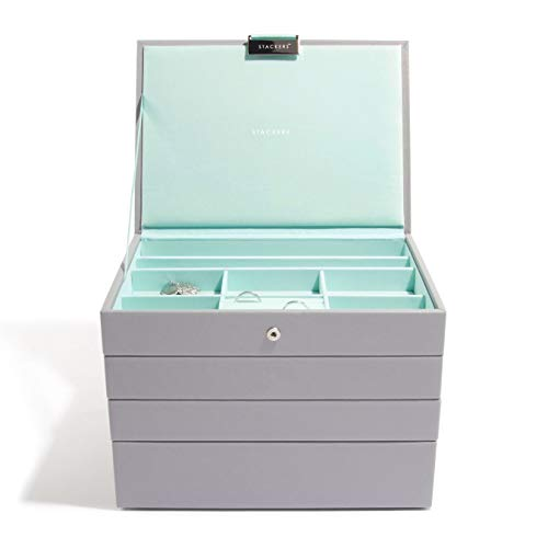 Stackers Dove Gray & Mint Classic Jewelry Box - Set of - Set Stackers