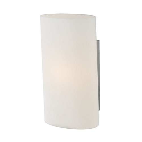 Ovo 1 Light (Alico Industries WS1330-10-15 Ovo 1-Light Wall Sconce, Chrome Finish with White Opal Glass Shade)