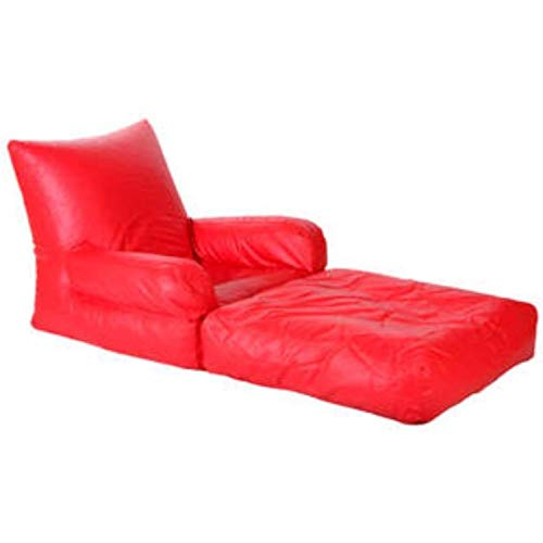 Madaar Homez Artificial Leather Lounger Red Bean Bags Cover XXXL