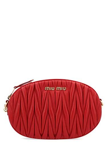 Miu Miu Red Bag - Miu Miu Women's 5Bh134ooon88f068z Red Leather Messenger Bag