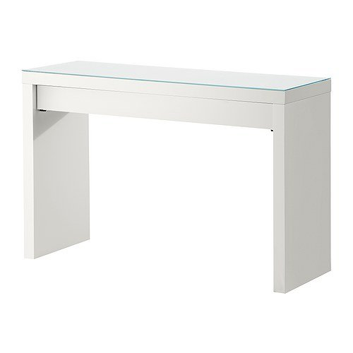 Ikea Dressing Table, White, 47 1/4 x 16 1/8 x 30 3/4, Depth of Drawer: 13 3/8, MALM 102.036.10