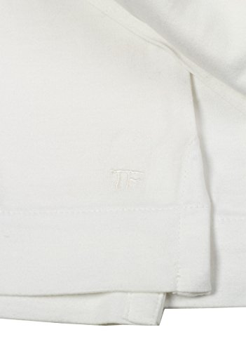CL - TOM FORD Off White Long Sleeve Polo Shirt Size 54 / 44R U.S.