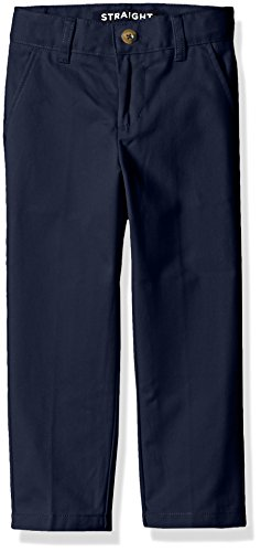 French Toast Little Boys' Straight Leg Twill Pant, Navy, (Boys Navy Dress Pants)