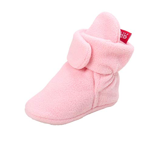 Wollanlily Newborn Baby Boys Girls Winter Cozy Booties Anti-Slip Soft Sole Infant Toddler Snow Boots Crib Shoes