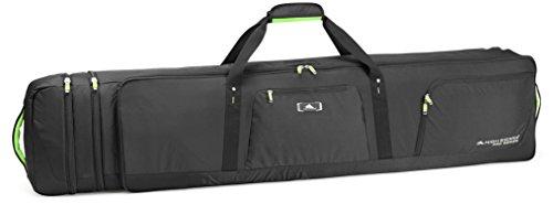 Pro Series Sports Bag - High Sierra Adjustable Wheeled Ski/Snowboard Combo, Black/Zest