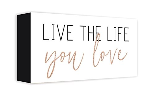 ReLive - Live The Life You Love 5x10 Painted Wooden Box Sign - Inspirational Decor