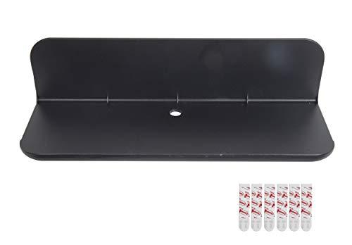 eLhook Stick-on Small Shelf (Black 12