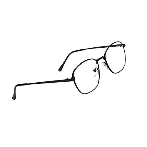 de negro Transparente Lente Unisex Alta con Elegante Accesorios Más non brand Sharplace Retro Materiales Hecho Calidad vq1EZU