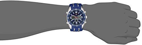 US Polo Assn Sport Men US9284 Blue and SilverTone AnalogDigital Chronograph Watch