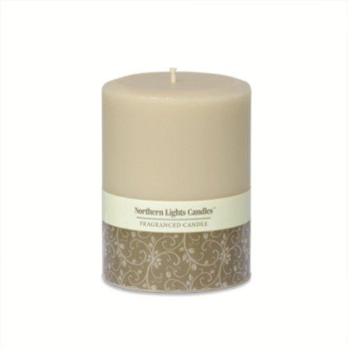 Northern Lights Candles - 3x4 Pillar-Sandstone