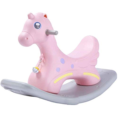 SCDXJ Baby Rocking Chair Child Rocking Horse Rocker Plastic Toy Multi-Function Toddler Rocking Chair Children's Toys Balance Training Birthday Toy Gift (Color : B)