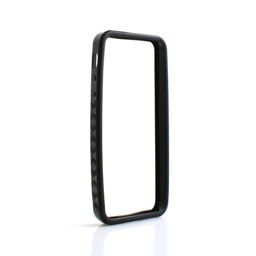 System-S Bumper Silikonhülle Tasche Case Cover Skin Schutz Hülle Schwarz für Apple iPhone 5