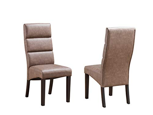 Kings Brand Furniture - Emerson Traditional Parson Dining Chair - Set of 2, -