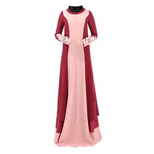 A Cintura Garza Vino Moda Di Ginli In Frange Vestiti Musulmani Rete Maglia Abito Con Ricamato Veste Cardigan Rosso Ricamata WHID92ebEY