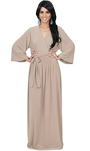 4bff29ac4865 ... Sleeves Wrap Fall Winter Empire Waist Flowy Casual Formal Cute  Maternity Robe Abaya Gowns Gown Maxi Dress Dresses