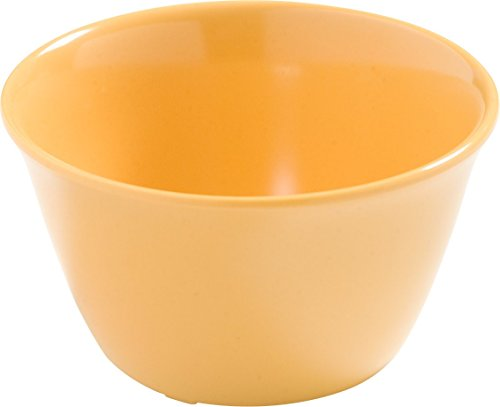 Carlisle 4386822 Dayton Melamine Bouillon Cup, 8 Oz., Honey Yellow (Set of 24)