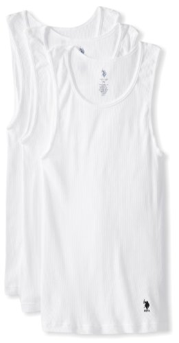 s 3 Pack A-Shirt, White, Large ()