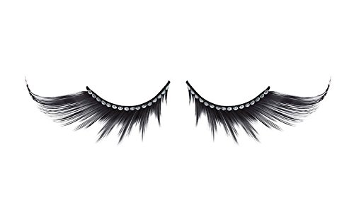 Zinkcolor Acrylic Rhinestone False Eyelashes D330 Dance Halloween Costume