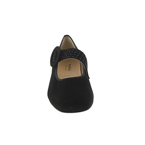 Mujer 0100 Negro Hassia De Para Zapatos 302452 Vestir Cuero P5x8wxUq0