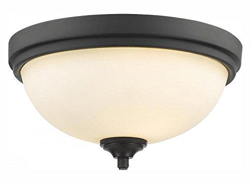 435F2-BRZ Bronze Bordeaux 2 Light Flush Mount Ceiling Fixture with Matte Opal Glass Shade