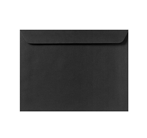 9 x 12 Booklet Envelopes - Black Linen (50 Qty) | Perfect for Catalogs, Annual Reports, Brochures, Magazines, Invitations| 4899-BLI-50