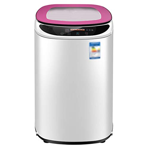 Mini Washing Machine – Automatic Small Household Dormitory Sterilization Child Elution with Dry 485077 cm(Pink)