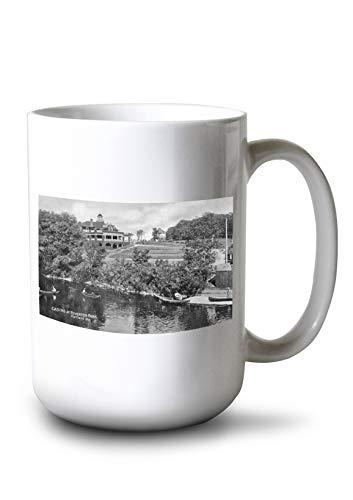 Lantern Press Portland, Maine - Riverton Park View of The Casino (15oz White Ceramic Mug)