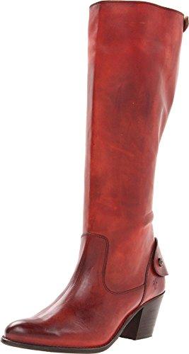 Frye Women's Jackie Zip Tall Boot - Burnt Red-76307 - 6.5...