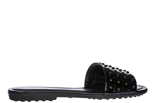 Tod's Women's Slippers Sandals Black me8Gf6NXeb