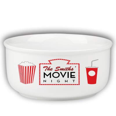 Personalized Family Name Movie Night Popcorn Bowl -