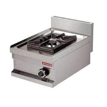 Cocina a gas sobremesa 1 fuego 6kw 400x600x265h mm GS604 ...