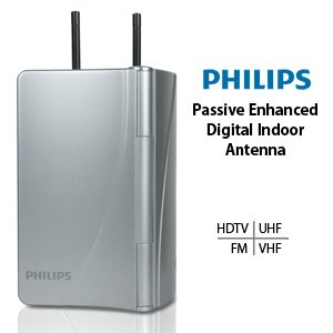 Philips Digital Indoor Antenna HDTV/UHF/VHF/FM Model SDV2711/27