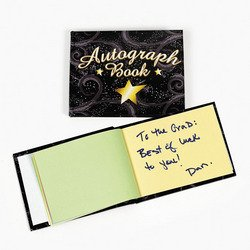 Autograph Book (BLACK WITH STAR) - 5